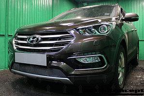 Защита радиатора Hyundai Santa Fe 2015- black PREMIUM