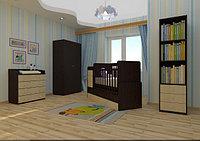 Детская кровать-трансформер Фея 1100 (венге-клен), фото 1
