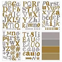 Декоративные наклейки Клэтта, металлические буквы