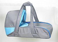 Сумка переноска для новорожденных Фея серо-голубой, фото 1
