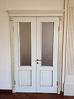 Дверь двухстворчатая с патиной