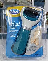 """Scholl Электрическая роликовая пилка """"Velvet Smooth"""" c бриллиантовой крошкой для удаления огрубевшей кожи стоп 18 +, от USB - шнура. И от батареек"""