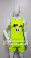 Форма баскетбольная Chicago Bulls(салатовая)