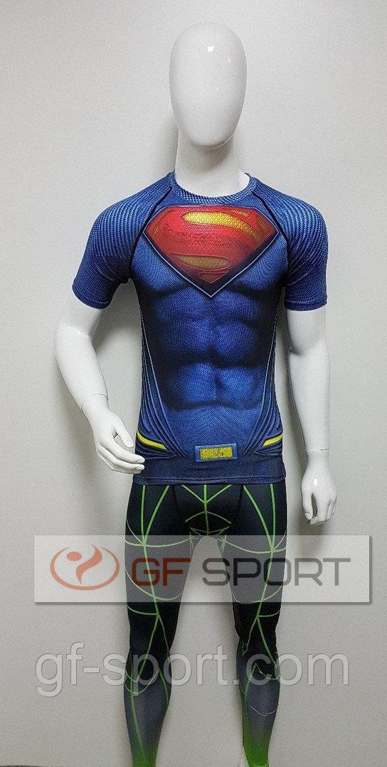 Рашгард комплект (футболка,,штаны) Superman