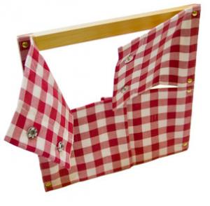 Рамка с кнопками на ткани (30,5*33 см.)