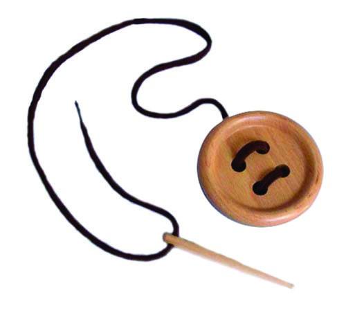 Большая пуговица со шнурком