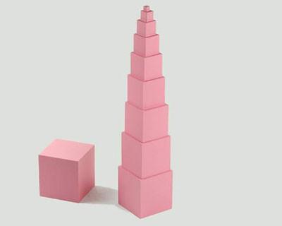 Розовая башня (1 маленький кубик запасной)