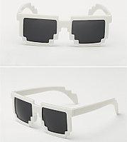 Карнавальные очки Майнкрафт (Minecraft) белые
