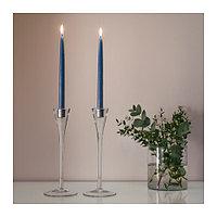 Неароматическая свеча Клокхет, темно-синий 8 шт