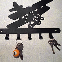 "Ключница ""Самолет"", металл, фото 1"