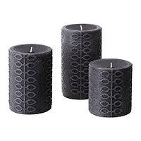 Формовая свеча Ньютнинг ароматическая, 3 шт, Цветущий бергамот, серый