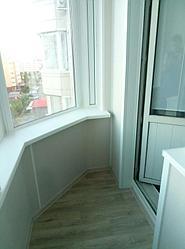 Обшивка балкона декоративной панелью Сауран 14 6
