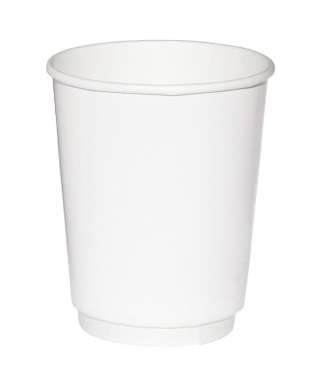 Стакан бумажный ThermoCup Белый д/гор. напитков, 250мл