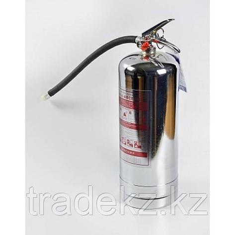 Огнетушитель порошковый ОП-2 АBCE, хромированный корпус, фото 2