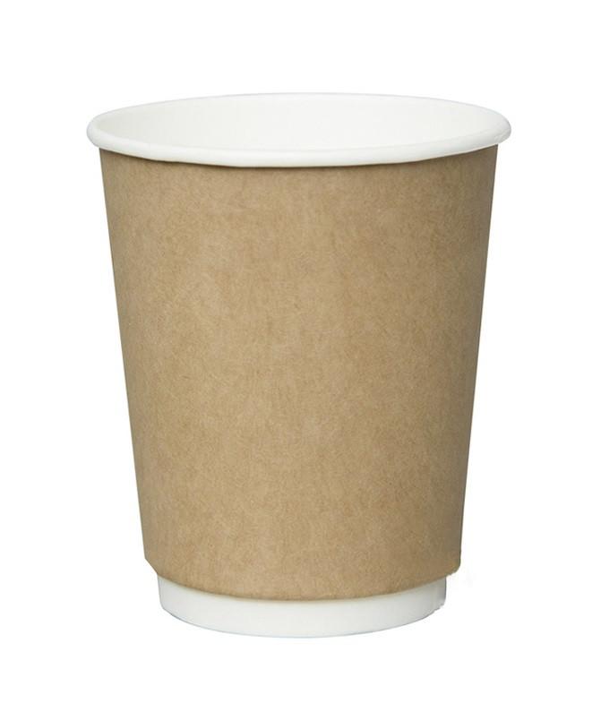 Стакан бумажный ThermoCup Крафт д/гор. напитков, 250мл
