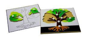 Строение дерева (пазлы) и его контур (ламинированный)