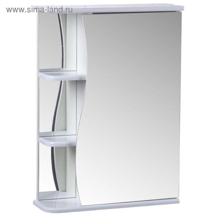 "Зеркало-шкаф ""Тура"", с тремя полками, 55 х 15,4 х 70 см - фото 1"