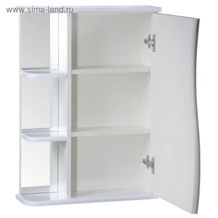 "Зеркало-шкаф ""Тура"", с тремя полками, 55 х 15,4 х 70 см - фото 2"