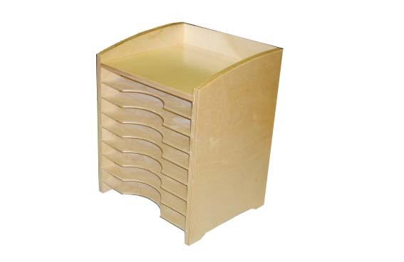Шкафчик для анатомических рамок-вкладышей и контуров 8 отделов