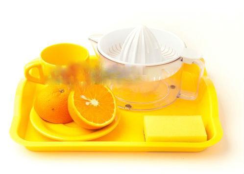 Набор для упражнения –соковыжималка(поднос ,ложечка, соковыжималка ,чашка с блюдцем)