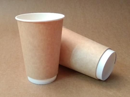 Стакан бумажный ThermoCup Крафт д/гор. напитков, 300мл