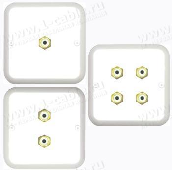 WP.W-R Встраиваемая розетка для подключения видеокабелей, сабвуферов и акустических систем  (гнезда RCA)