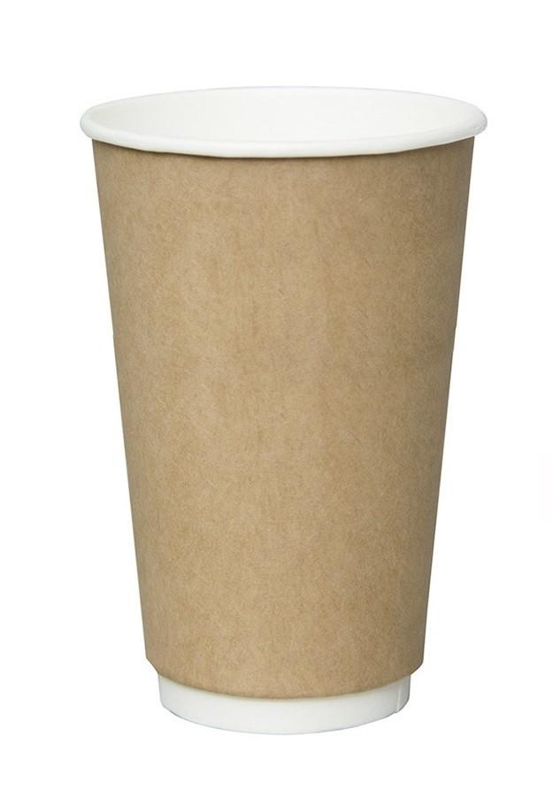 Стакан бумажный ThermoCup Крафт д/гор. напитков, 400мл