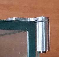 Угловой шарнир для стеклянных витрин. Для накладных дверей. Под УФ - склейку., фото 1
