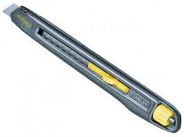 Нож Stanley INTERLOCK, высокопрочный металлический корпус, ширина лезвия 9 мм