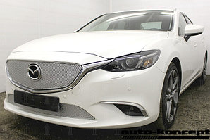 Защита радиатора Mazda 6 (Supreme, Supreme Plus, Executive) 2015- chrome верх PREMIUM