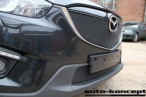 Защита радиатора Mazda CX5 2012-2014 black верх PREMIUM