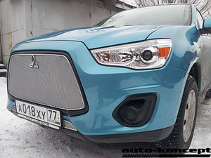 Защита радиатора Mitsubishi ASX 2013- chrome верх PREMIUM
