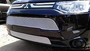 Защита радиатора Mitsubishi Outlander III 2012- chrome верх PREMIUM