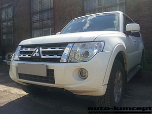 Защита радиатора Mitsubishi Pajero IV 2011-2014 black PREMIUM