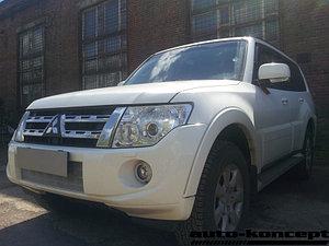 Защита радиатора Mitsubishi Pajero IV 2011-2014 chrome PREMIUM