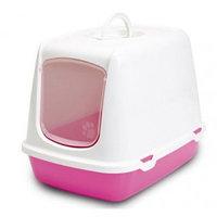 Био-Туалет для кошек Savic Oscar (бело-розовый)