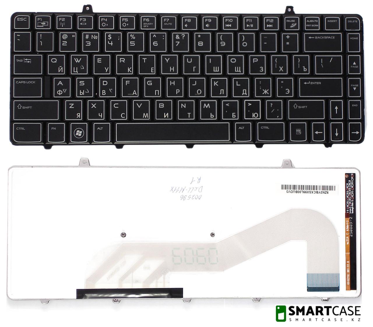 Клавиатура для ноутбука Dell Alienware M11x (черная с подсветкой, RU)