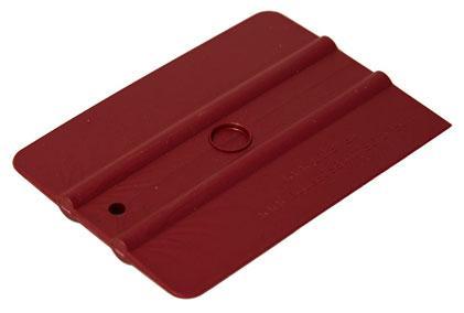 Шпатель бордовый полужёсткий (60%) прямоугольный