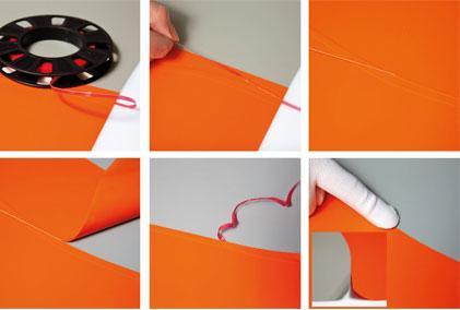 Лента режущая для автовинила белая (4 мм*45 м)