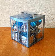 Новогодний мини-набор для украшения елки - бирюза, фото 1