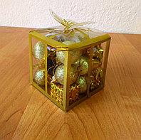 Новогодний мини-набор для украшения елки - золото, фото 1