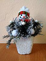 """Подарок на новый год """"Снеговик в корзине"""", фото 1"""