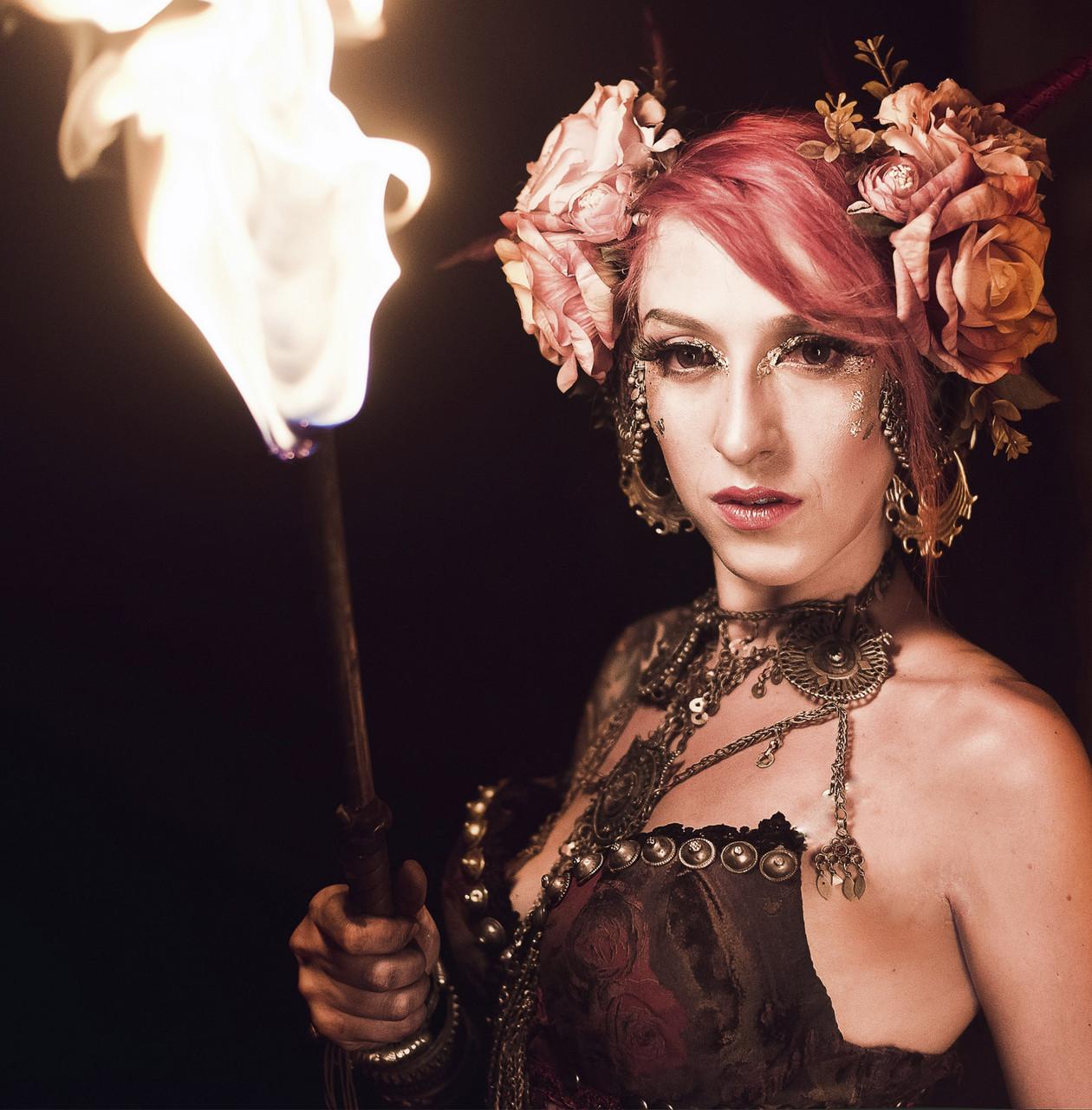 Огненное шоу Соло с факиром Tribal Fantasy. Предложение руки и сердца.