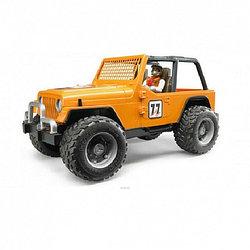 Внедорожник Bruder Cross Country Racer, оранжевый, с фигуркой гонщика