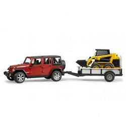 Внедорожник Jeep Wrangler Unlimited Rubicon c прицепом-платформой