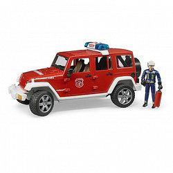 Пожарный внедорожник Bruder Jeep Wrangler Unlimited Rubicon, с фигуркой