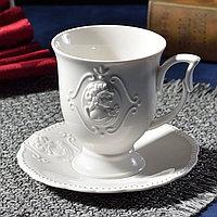 Чашка для кофе чай скандинавский стиль ресторан. Цвет -не ярко белый.