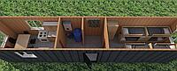 Жилой контейнер для рабочих на 8 человек. С кухней