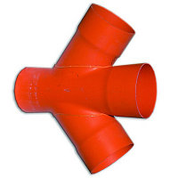 DKC Соединение для четырех двустенных труб,45 ,полипропилен,д.125, фото 1