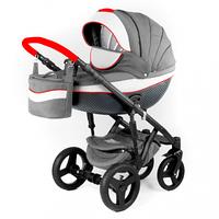Детская универсальная коляска Adamex Monte Carbon Deluxe 2в1 (D5)